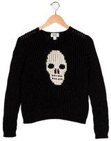 Autumn Cashmere Girls' Intarsia Crew Neck Sweater
