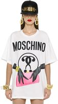 Moschino Oversized Clutch & Logo Jersey T-Shirt