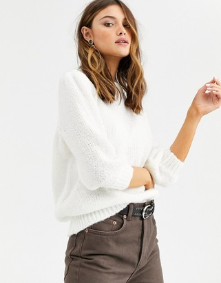 Vila three quarter sleeve knitted sweater
