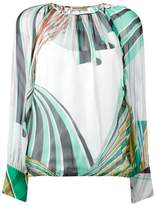 Emilio Pucci geometric print blouse