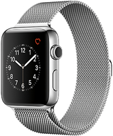 Apple Watch Series 2 42mm Stainless Steel Case with Milanese Loop, Silver