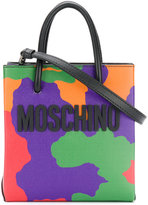Moschino logo camouflage shoulder bag - women - Leather - One Size