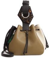 Ganni Triangle Drawstring Leather Bag