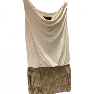 Jay Ahr Beige Suede Dress for Women