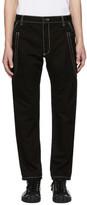 Comme des Garcons Black Contrast Stitch Skinny Trousers