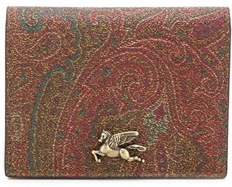Etro Paisley-Print Bi-Colour Wallet