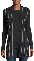 Neiman Marcus Chain-Striped Cashmere Cardigan