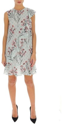 RED Valentino Floral Ruffle Trimmed Dress
