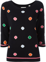 Chinti and Parker intarsia dot jumper - women - Cashmere - XS