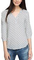 Esprit Women's 076ee1f014 Blouse, Multicoloured (NAVY 0)
