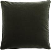OKA Plain Velvet Cushion Cover, Square - Grey Green