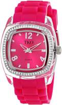 TKO ORLOGI Women's TK557-FS Tivoli Crystalized Plastic Case Rubber Strap Watch