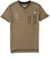 First Wave Big Boys 8-20 Patches V-Neck Short-Sleeve Tee