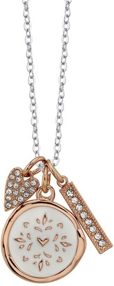 Lovethislife LovethisLife Crystal Heart & Bar Pendant Necklace