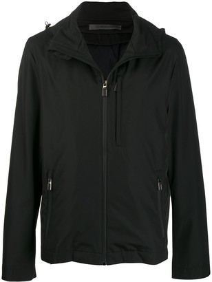 Canali Hooded Zip-Up Jacket