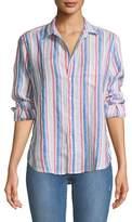 Frank And Eileen Eileen Long-Sleeve Striped Linen Button-Down Shirt