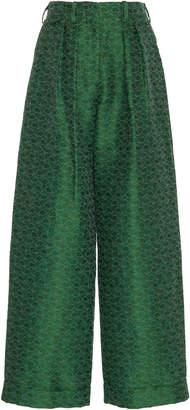 Rosie Assoulin Patterned Jacquard Linen-Blend Pants