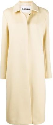 Jil Sander Single-Breasted Midi Coat