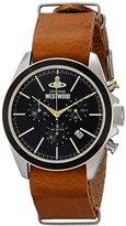 Vivienne Westwood Men's VV069BKBR Camden Lock II Analog Display Swiss Quartz Brown Watch
