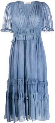 Ulla Johnson Elodie crinkled midi dress