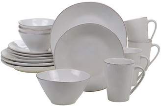 One Kings Lane Asst. of 16 Salerno Place Setting - Cream