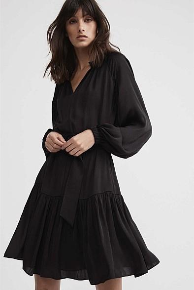 Witchery High-Neck Trapeze Dress