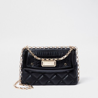 River Island Womens Rue Saint Dominique Black shoulder bag
