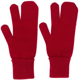 Maison Margiela Four-Stitch Detail Gloves