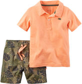 Carter's 2-pc. Polo and Shorts Set - Baby Boys newborn-24m