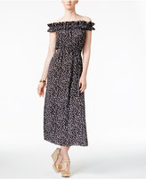 MICHAEL Michael Kors Finley Printed Off-The-Shoulder Maxi Dress