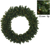 Asstd National Brand 5 Ft. Pre-Lit Commercial Size Canadian Pine Artificial Christmas Wreath with Clear Lights