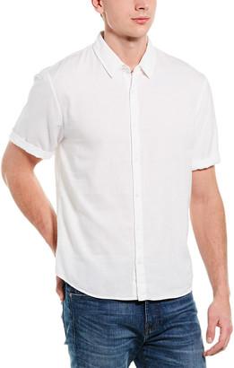 James Perse Twill Linen-Blend Shirt