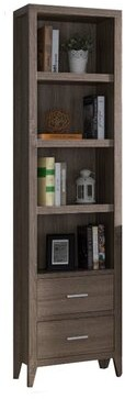 Union Rustic Wooden Media Shelves