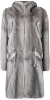 Liska - midi zipped coat - women - Mink Fur - S