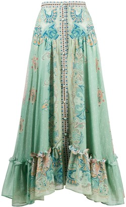 Etro buttoned A-line skirt