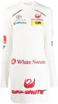 Off-White Off White logo-print fitted dress