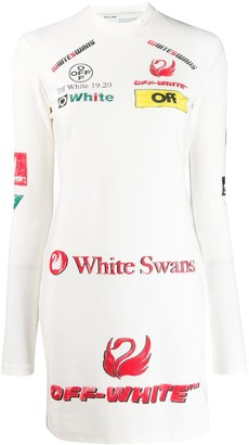 Off-White Logo-Print Fitted Dress