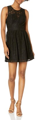 BCBGeneration Women's Lace Fit & Flare Dress