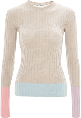J.W.Anderson Colour-Block Ribbed Jumper