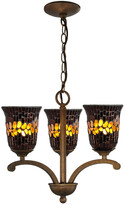 Dale Tiffany Springdale By Springdale 17.5In Copper Shell 3-Light Mosaic Art Glass Chandelier
