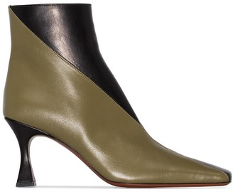 MANU Atelier Duck 80mm two-tone ankle boots
