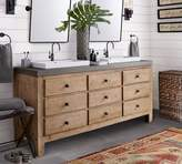 Pottery Barn Mason Double Sink Console - Wax Pine