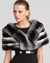 "Maximilian Furs Maximilian 10"" Chinchilla Cape with Horizontal Body"