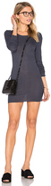 Enza Costa Cashmere Silk Rib Long Sleeve Crew Top in Blue. - size S (also in )