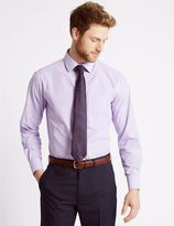 Marks and Spencer 2 Pack Easy to Iron Shirts with Tie