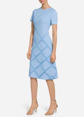 St. John Bias Stripe Jacquard Dress