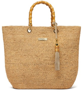 Heidi Klein Savannah Medium Bamboo-handle Raffia Tote Bag - Womens - Beige