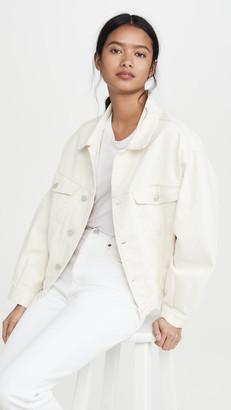 A Gold E Agolde Charli Oversized Jacket