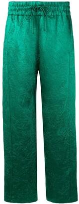 Sies Marjan Alima crinkled satin track pants