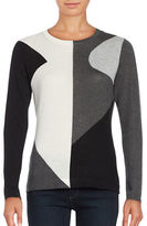 Vince Camuto Colorblocked Crewneck Sweater